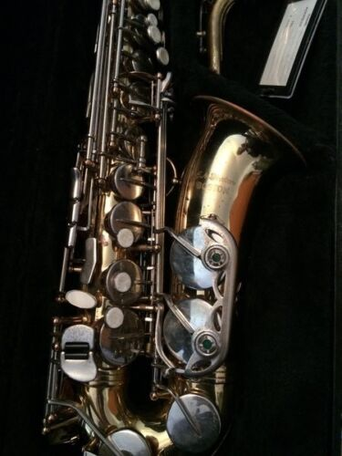 E.M. Winston Boston Alto Saxophone just properly serviced plays very well.