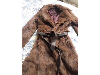 Real rabbit fur coat size 8 plus a patent Chanel bag for free