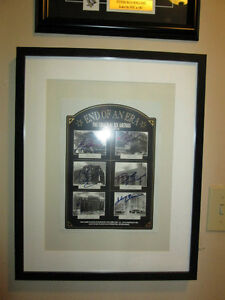 N.H.L. Hockey Lithograph Signed By 6 Hall of Famers - Framed