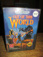 ***SEGA GENESIS OUT OF THIS WORLD W/BOX AND CODES!!!***