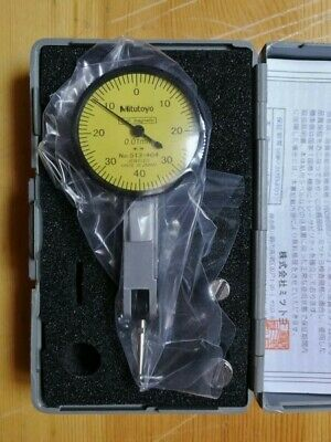 New Japan Mitutoyo Dial Test Indicator 0-0.8mm No.513-404 0.01mm Free Shipping