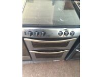 Stainless steel new world 60cm dual fuel cooker grill & oven good condition with guarantee bargain