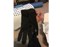 Riding gloves, black with palm grip