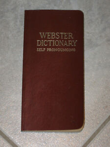 ...WEBSTER [VEST-POCKET-SIZED]. ENGLISH DICTIONARY....