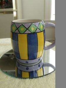 "A COLOURFUL CHEERFUL ""WAKE-ME-UP"" COFFEE / TEA MUG"