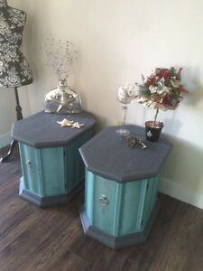 Beautiful Side End Tables Refurbished