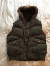 Ladies Dorothy Perkins Green Gilet Size 18