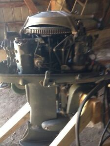 Old 40hp Johnson boat motor