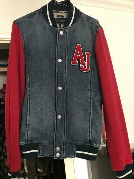 09bdeaf6f Armani Jeans Slim size- Small Man Denim Towel Mix Bomber Jacket 100%  genuine   in Hackney, London   Gumtree