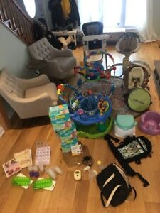 Many baby items, prices in the description