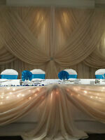 Backdrops and Head Table Draping - Complete your Wedding Decor