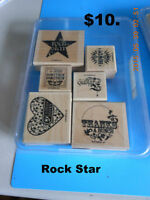 """Stamp set by Stamping up    """"Rock Star"""""""