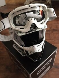 Box Helmet and Goggles