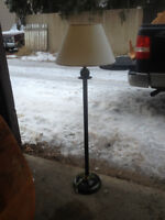 Brass Style Floor Lamp & shade good condition $25.00