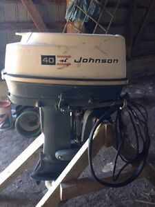 40hp Johnson boat motor