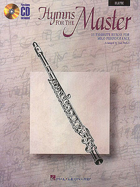 Hymns for the Master Flute Solo Christian Sheet Music Play-Along Book CD