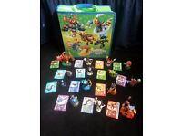 joblot of 49 skylanders with case and cards