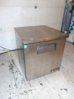 Commercial stainless bar fridge