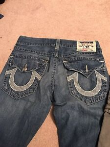 True religion jeans and cargo shorts