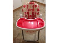 "Cosatto ""tea party"" noodle high chair"