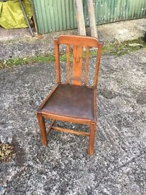 6 original 50's dining chairs