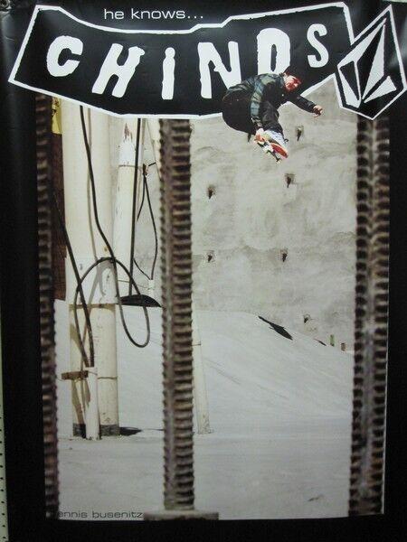 VOLCOM surf skateboard snowboard DENNIS BUSENITZ BIG dealer BANNER New Old Stock