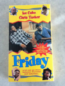 Friday VHS movie, starring Ice Cube/Chris Tucker