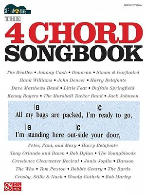 The 4 Chord Songbook Sheet Music Strum & Sing Series Easy Guitar Book  002501533