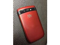 Unique Red Touchscreen Blackberry 9800 Unlocked to all Networks Can Deliver
