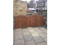 Wooden garden driveway gate