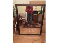 Large Solid Hard Wood Mirror