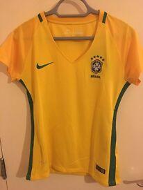 Brazil Football Jersey Women size Medium