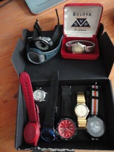 LOT of 9 Men's Watches