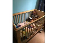 Pine cot bed with mattress need gone ASAP