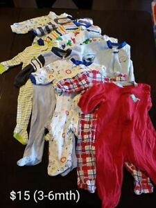 3-6mth sleepers & summer outfits