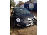 Beetle 1.4 black 2005 SPARES OR REPAIRS
