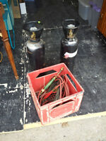 Acetylene Torch set with 2 tanks