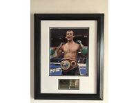 Joe calzaghe original signed photo