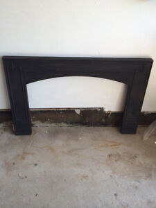 Black solid Porcelain fireplace cover