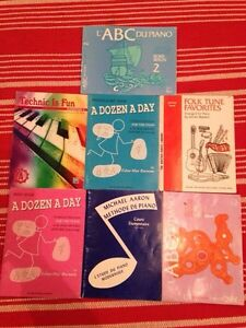 7 piano lessons books