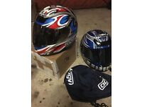 choice of two crash helmets xl size, reasonable condition used for karting. Nitro agv