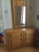 Set de chambre en bois - Wood bedroom set