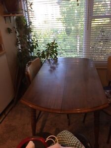 Wood dining table two chair if want