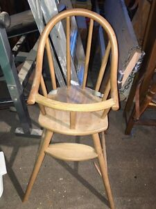 Wooden IKEA baby high chair Cambridge Kitchener Area image 1