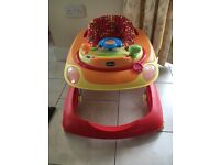 Chicco red wave baby walker