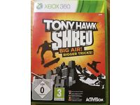 xbox 360 tony hawk shred big air game Game for the Xbox 360