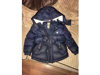 Timberland coat age 6, timberland boots size 11 & Hugo boss hat