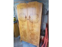 Walnut Wardrobe, Excellent condition and solid