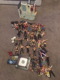 WWE wrestlers 35 7inch 8 mini 12 micro plus lots of accessories £90 Ono