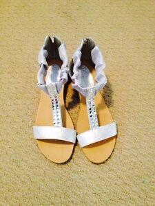 Brand new silver sandles